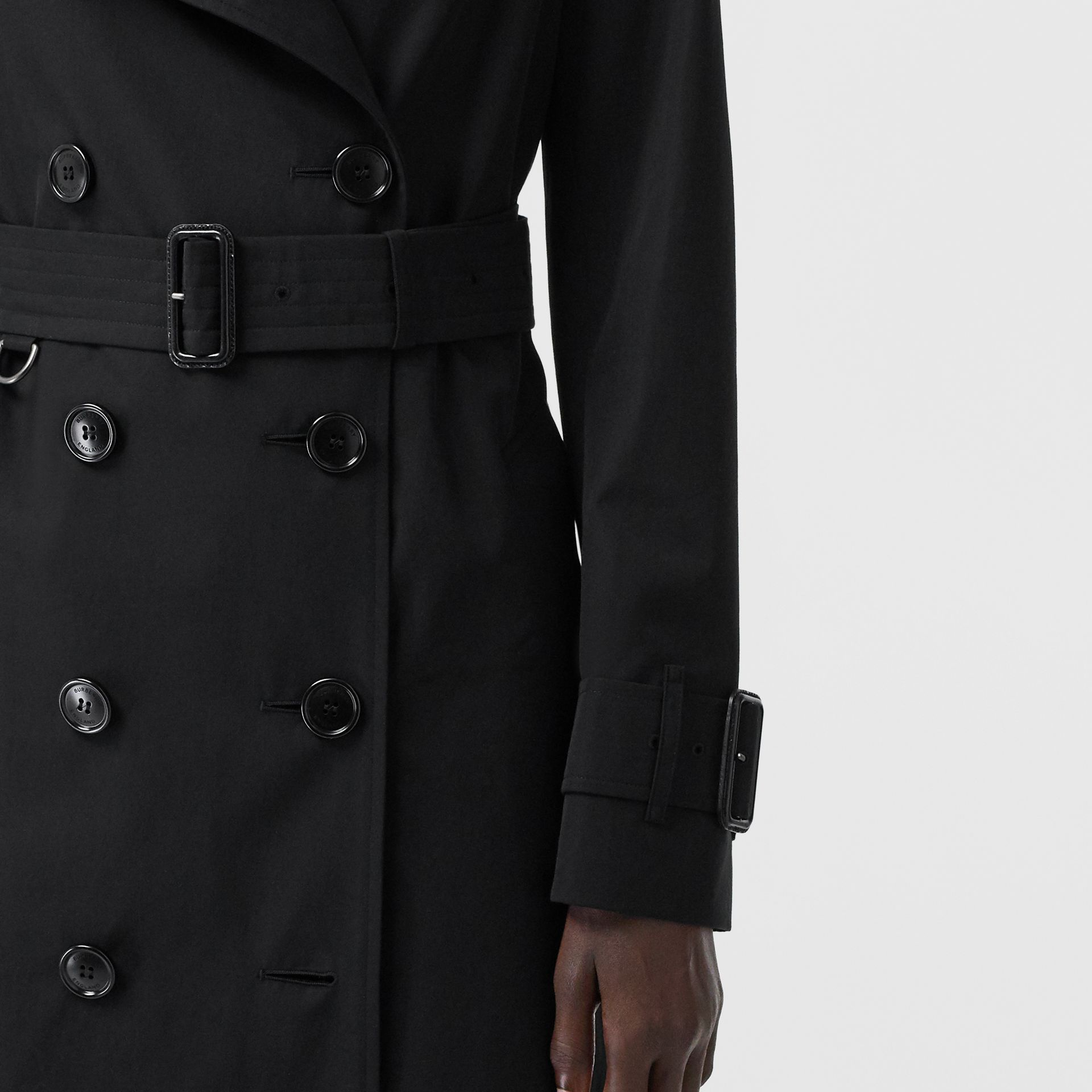 Tropical Gabardine Trench Coat in Black - Women | Burberry - gallery image 4