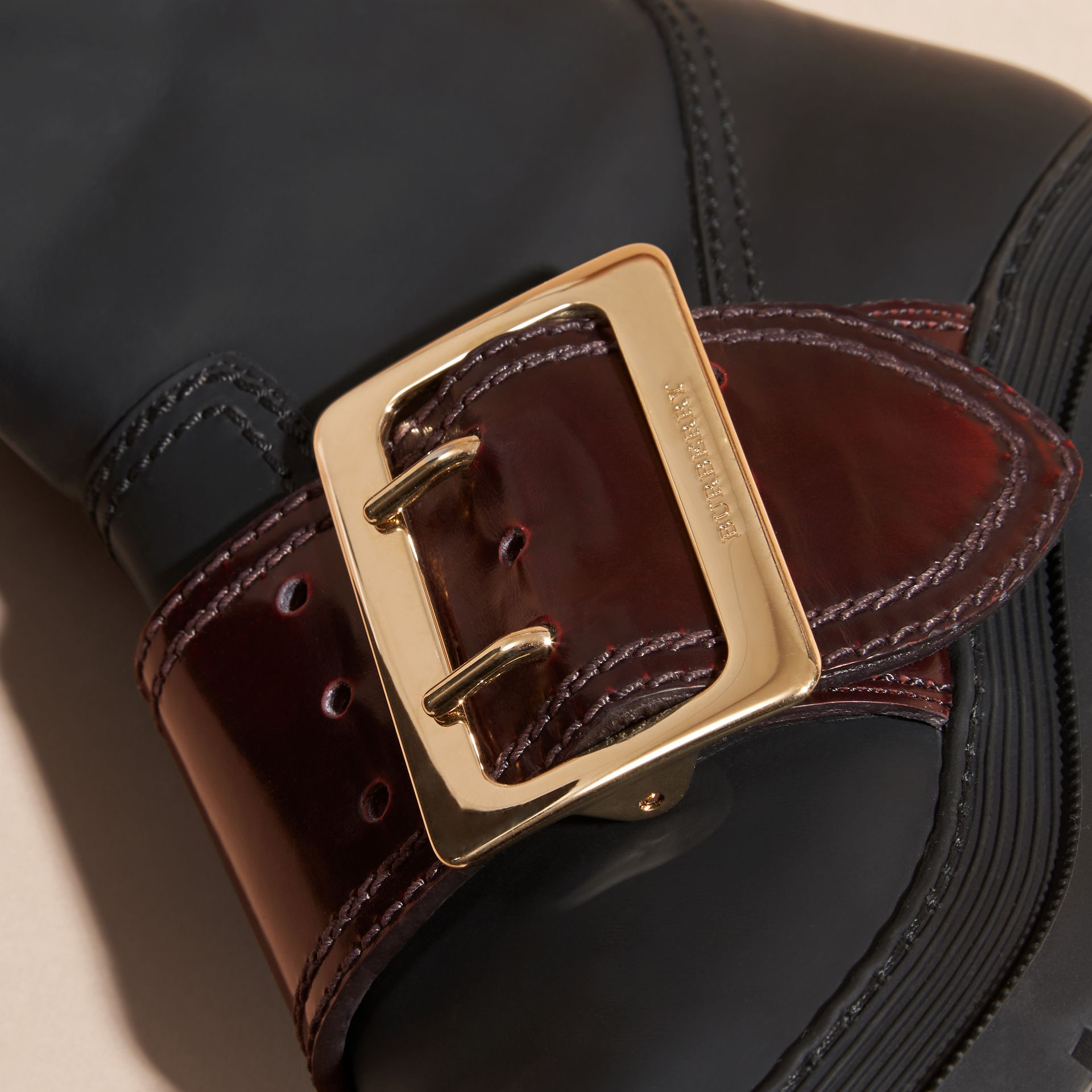 The Buckle Boot in Rubberised Leather - gallery image 2