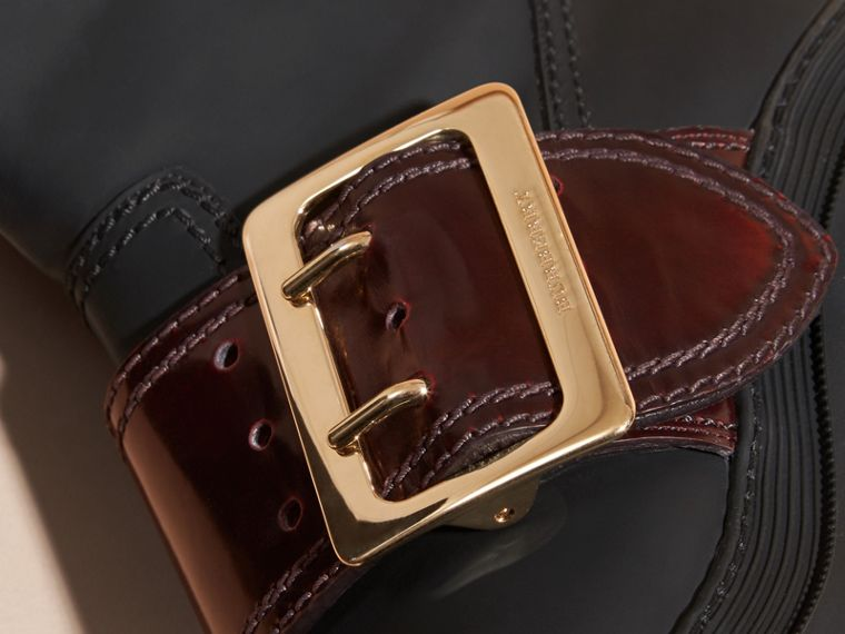The Buckle Boot in Rubberised Leather - cell image 1