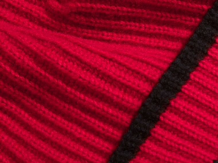 Ribbed Cashmere Tipped Beanie - cell image 1