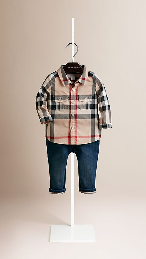 New classic Check Cotton Shirt - Image 1