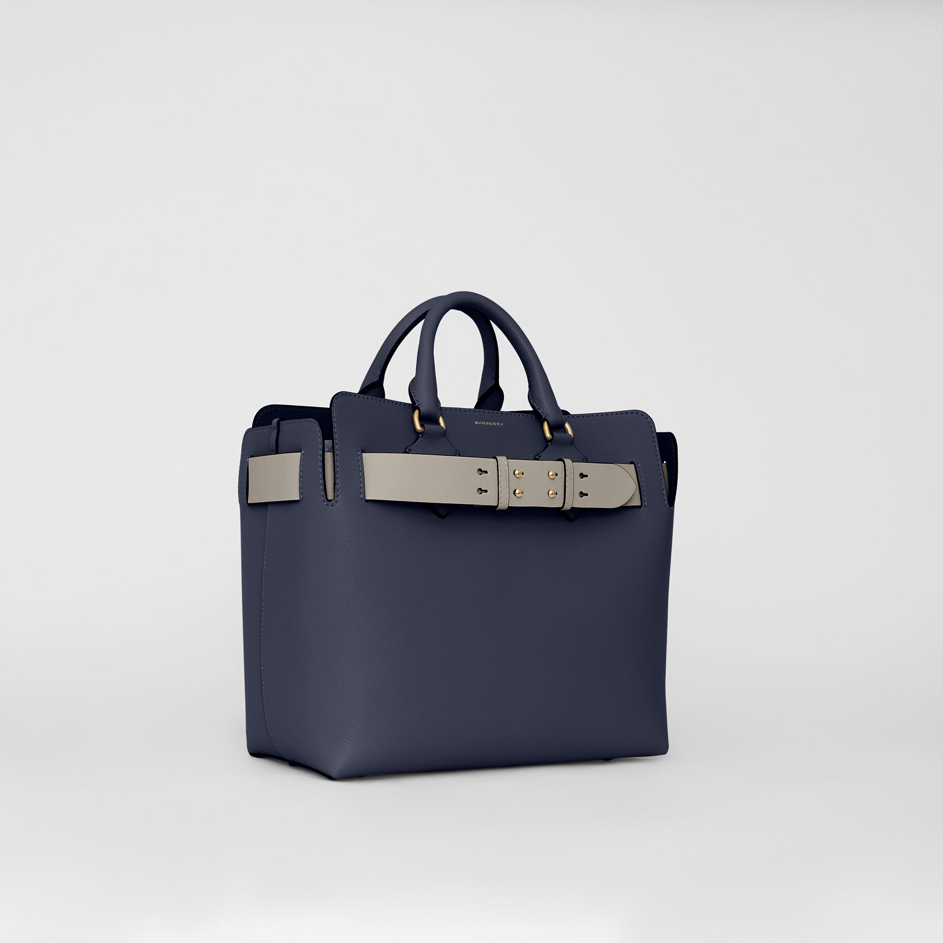 The Medium Leather Belt Bag in Regency Blue - Women | Burberry - gallery image 4