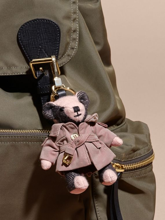 Thomas Bear Charm with Tropical Gabardine Trench Coat Ash Rose - cell image 2