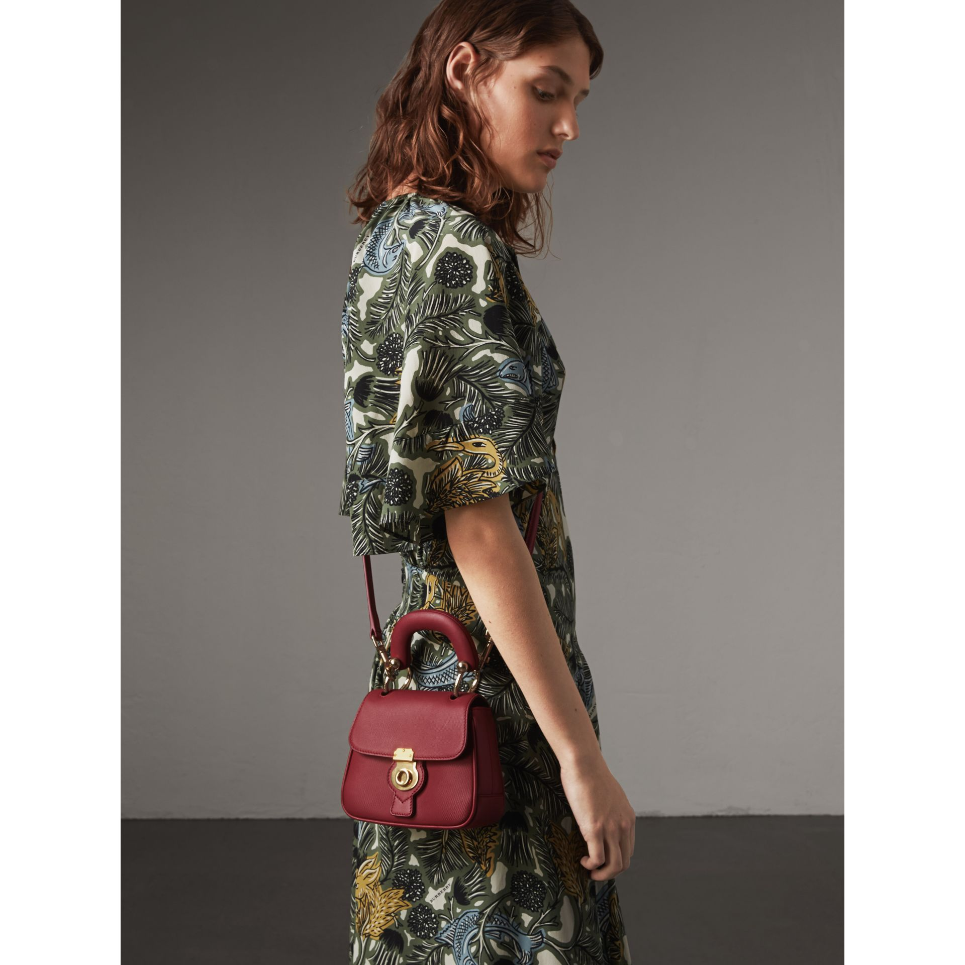 The Mini DK88 Top Handle Bag in Antique Red - Women | Burberry - gallery image 3