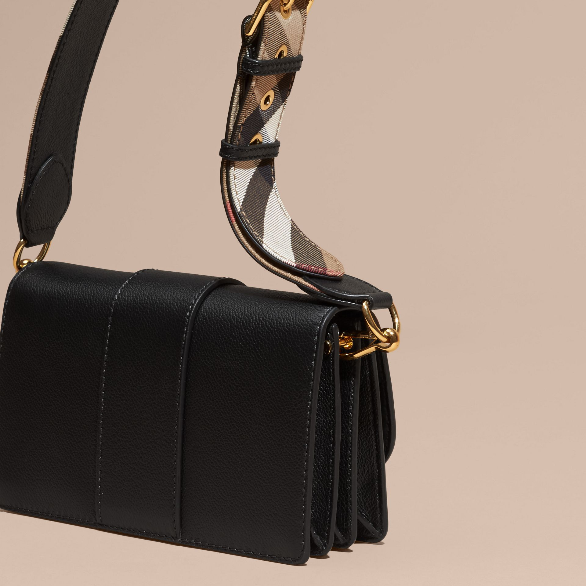 Black The Small Buckle Bag in Leather - gallery image 5