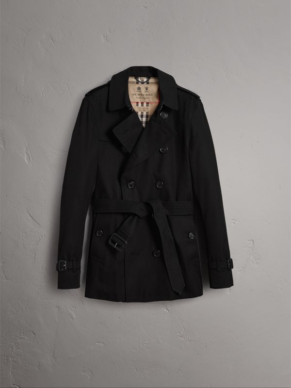 The Sandringham – Short Trench Coat in Black - Men   Burberry - cell image 3