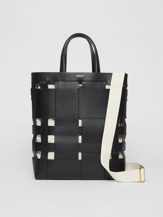 Tote Foster media in pelle (Nero)