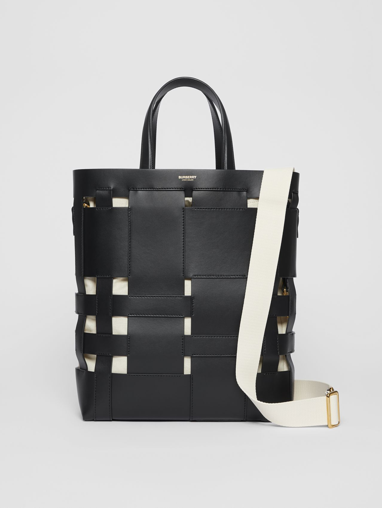 Medium Leather Foster Tote in Black