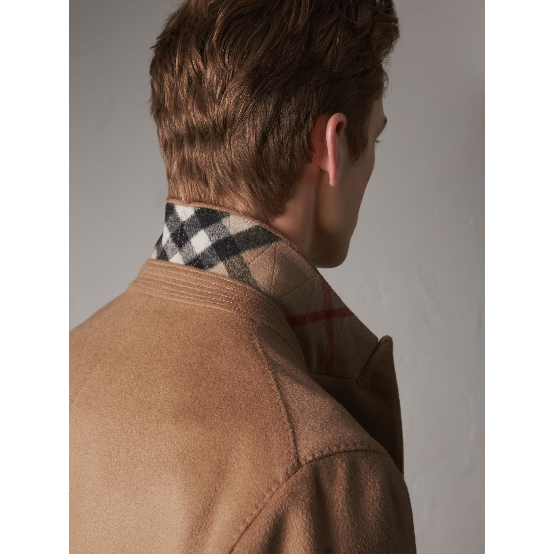 Double-breasted Extra Long Wool Cashmere Coat in Camel - Men | Burberry - gallery image 2