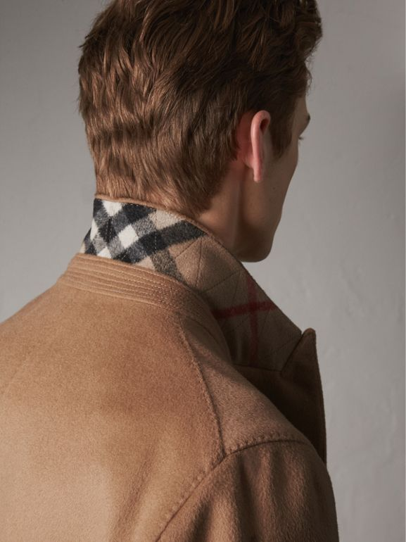 Double-breasted Extra-long Wool Cashmere Coat in Camel - Men | Burberry - cell image 1
