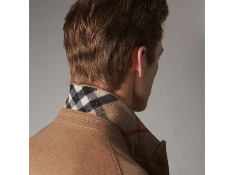 Double-breasted Extra Long Wool Cashmere Coat in Camel - Men | Burberry Singapore - cell image 1
