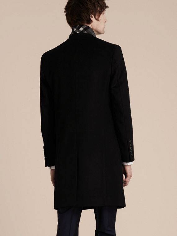 Black Wool Cashmere Tailored Coat Black - cell image 2