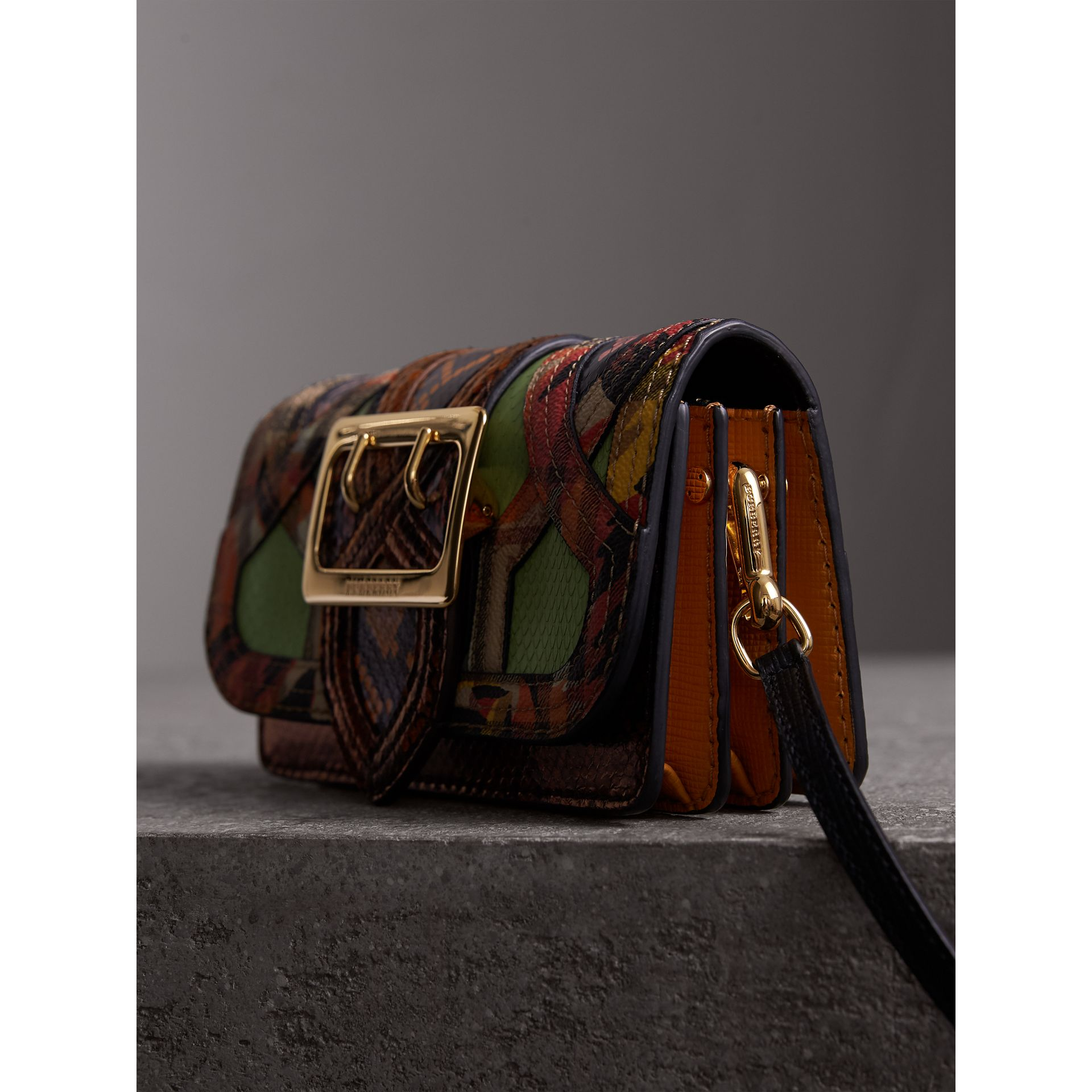 The Small Buckle Bag in Snakeskin and Floral Print - Women | Burberry - gallery image 6