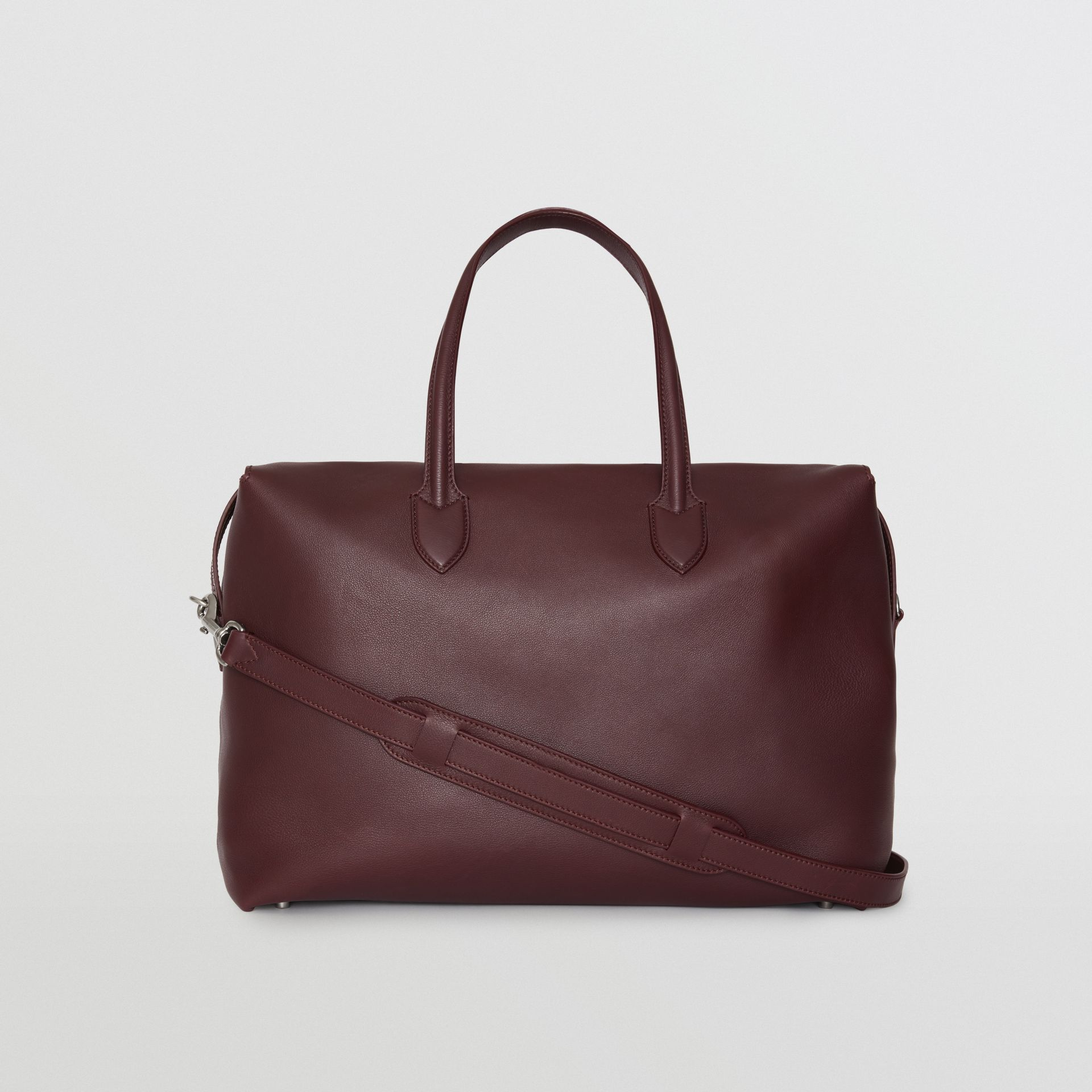 Soft Leather Holdall in Oxblood - Men | Burberry United States - gallery image 5