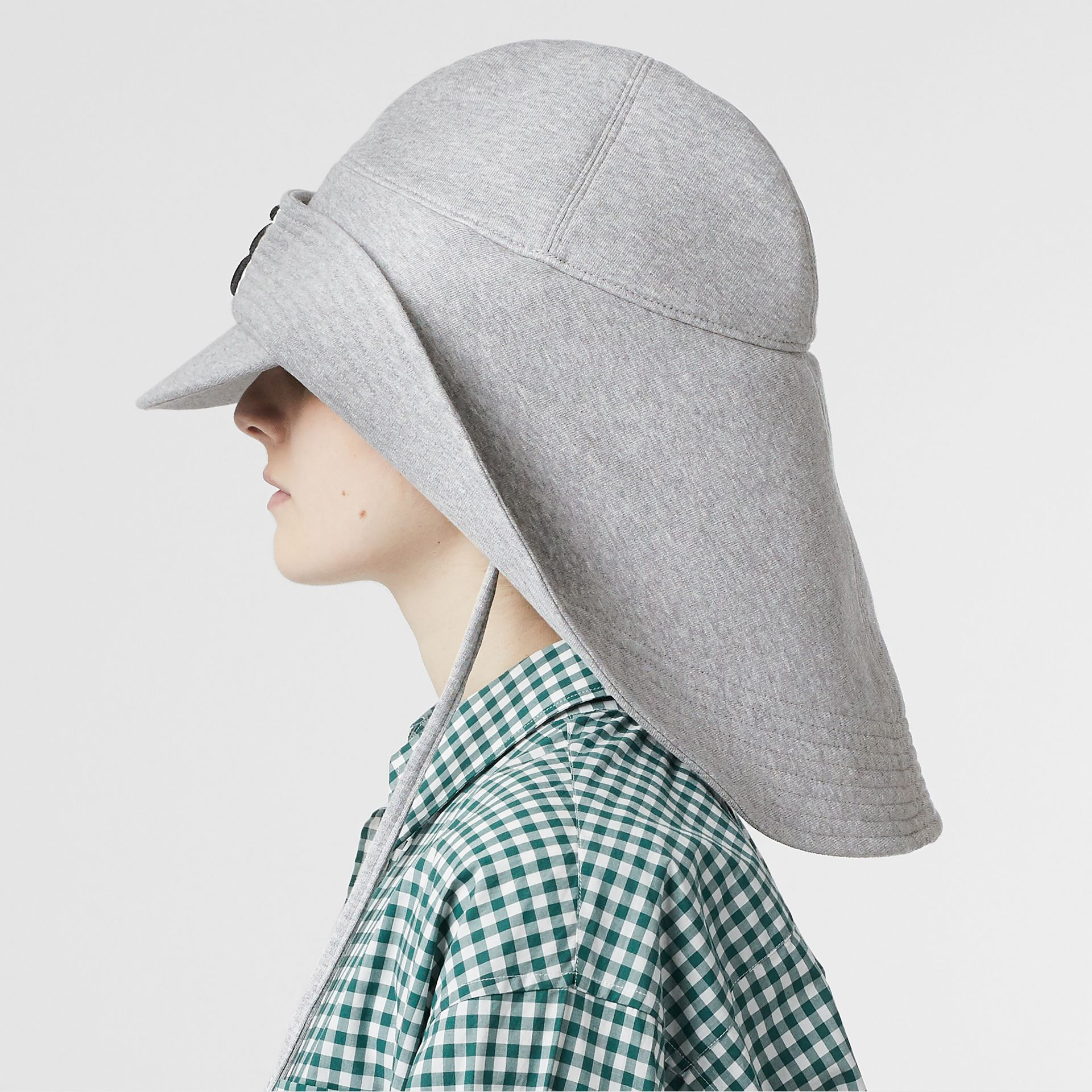 Monogram Motif Rain Hat in Light Grey Melange - Men | Burberry - gallery image 2