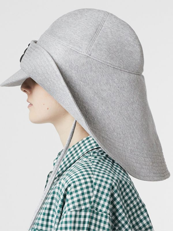 Monogram Motif Rain Hat in Light Grey Melange - Men | Burberry - cell image 2
