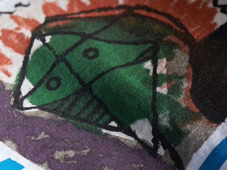 Pallas Heads Print Striped Cotton T-shirt - cell image 1