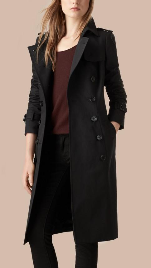 Noir Trench-coat en gabardine de coton Noir - Image 3