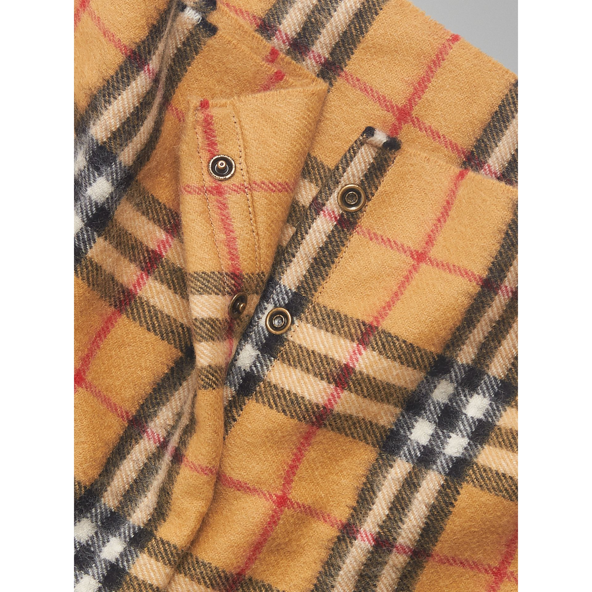 Vintage Check Cashmere Snood in Antique Yellow | Burberry Australia - gallery image 1