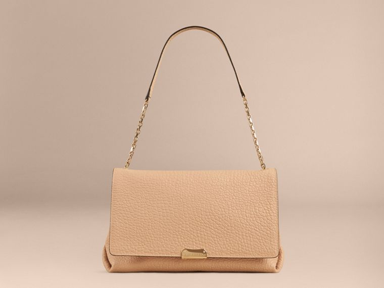Pale apricot Large Signature Grain Leather Shoulder Bag Pale Apricot - cell image 1