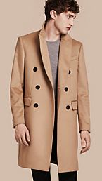 Double-breasted Tailored Cashmere Coat