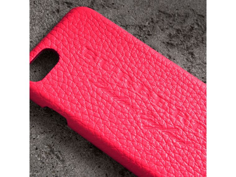 Neon Leather iPhone 7 Case in Bright Pink - Women | Burberry - cell image 1