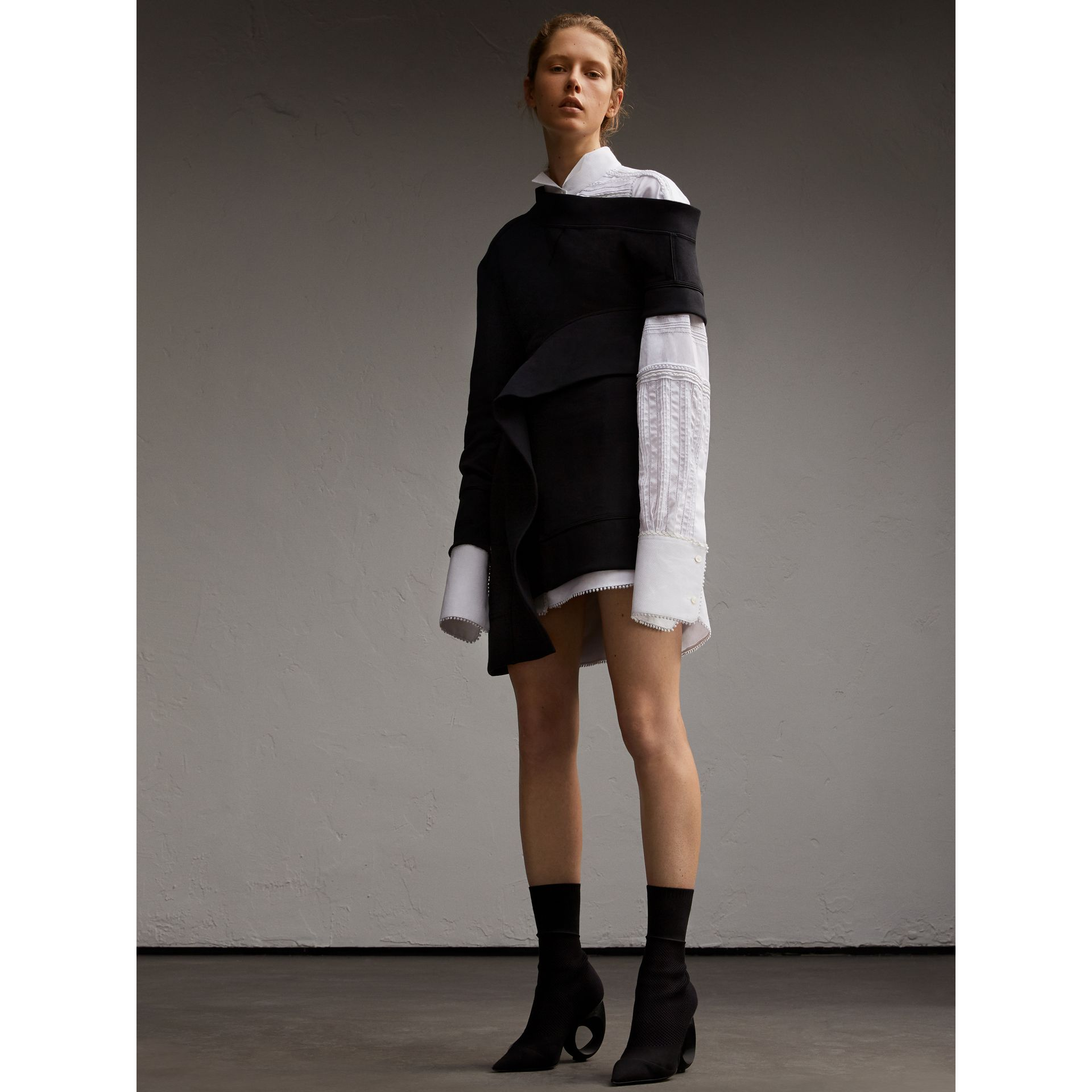 Asymmetric Sweatshirt Dress - Women | Burberry - gallery image 6
