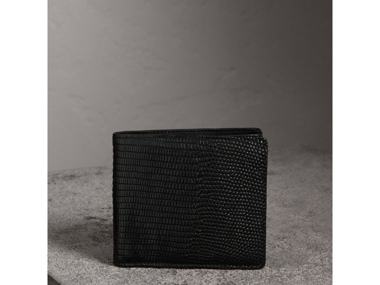 Lizard International Bifold Wallet in Black - Men | Burberry - cell image 4