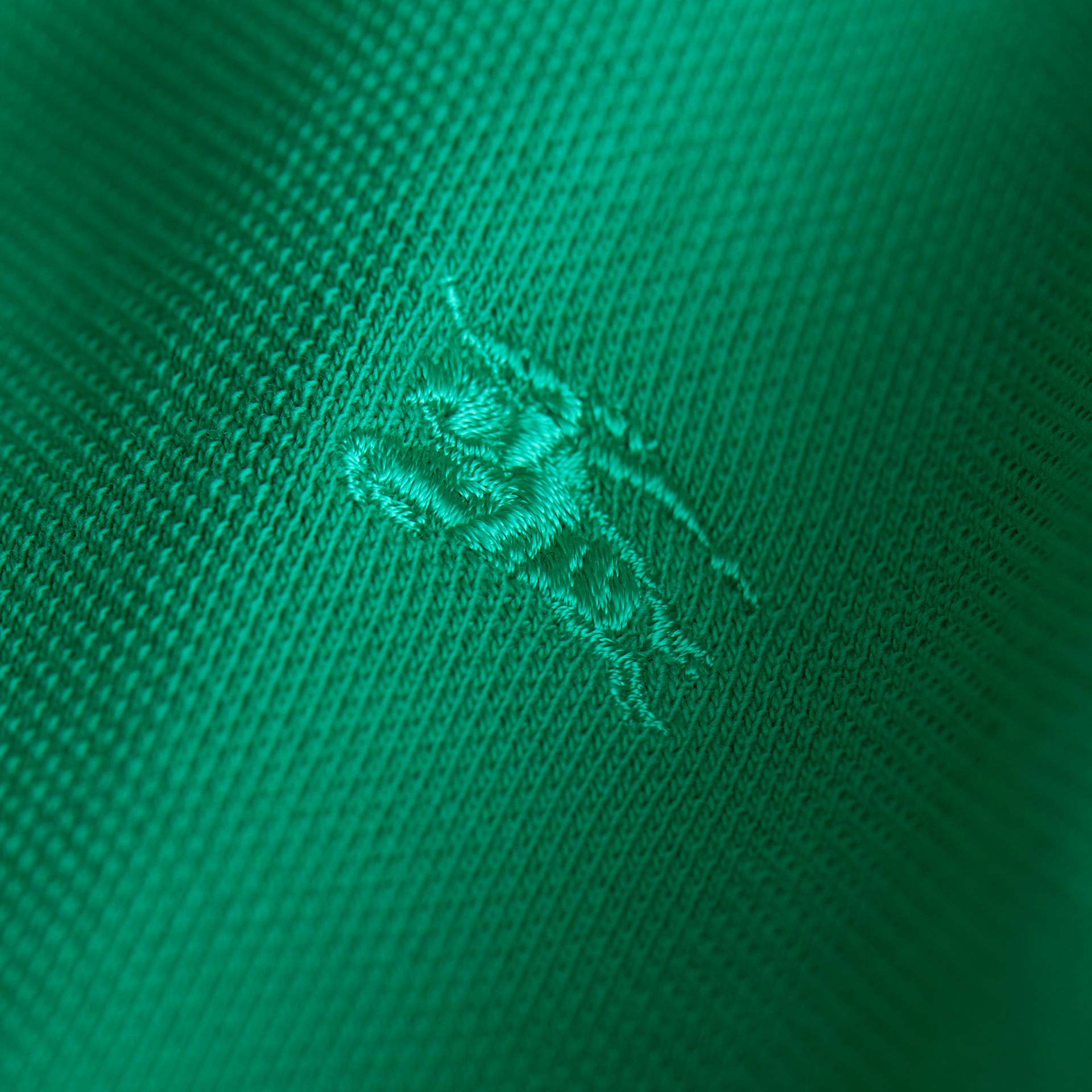 Check Placket Polo Shirt in Bright Green - Boy | Burberry - gallery image 2