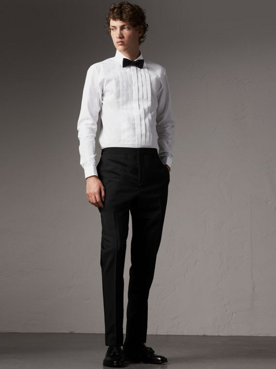 Slim Fit Cotton Poplin Dress Shirt in White