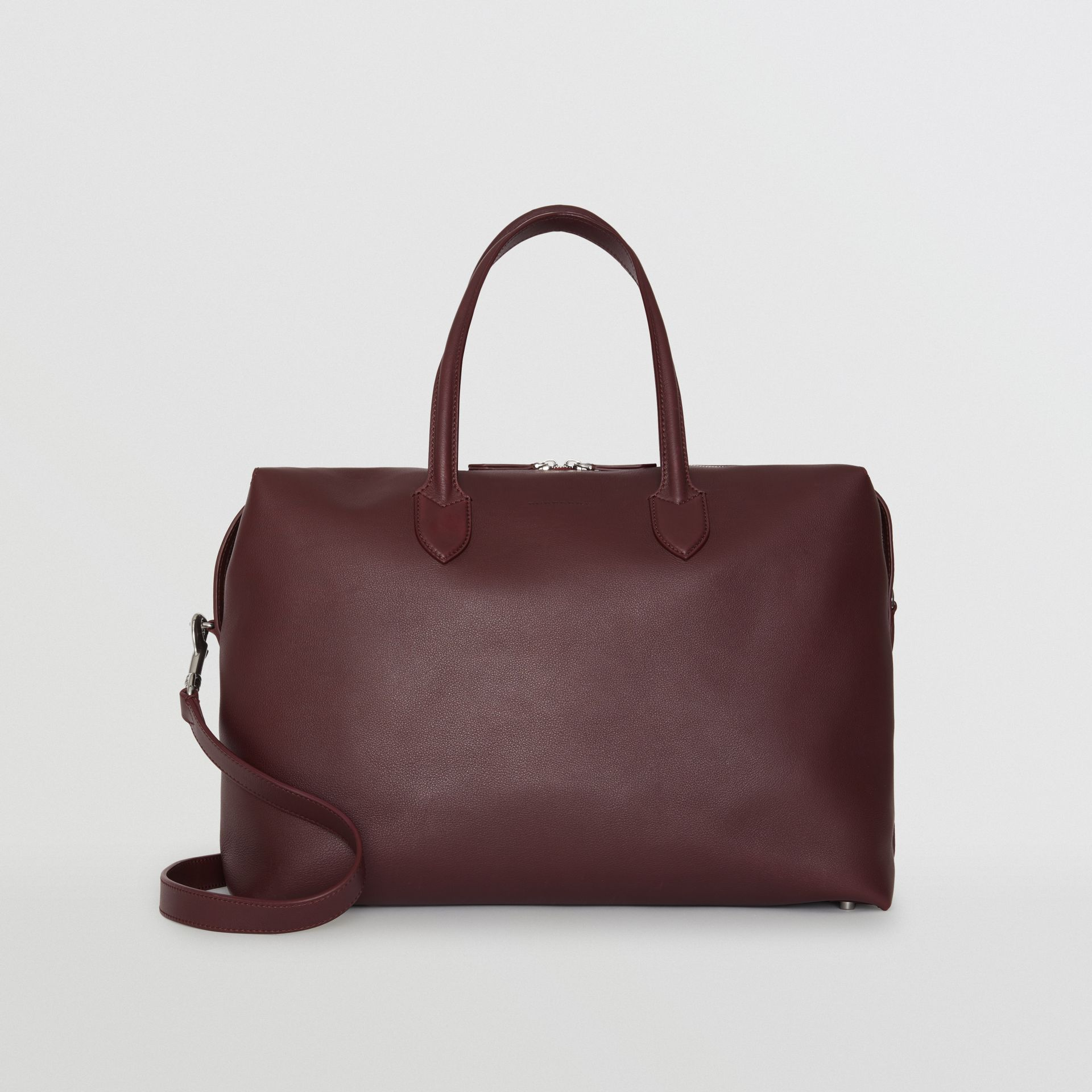 Soft Leather Holdall in Oxblood - Men | Burberry - gallery image 0
