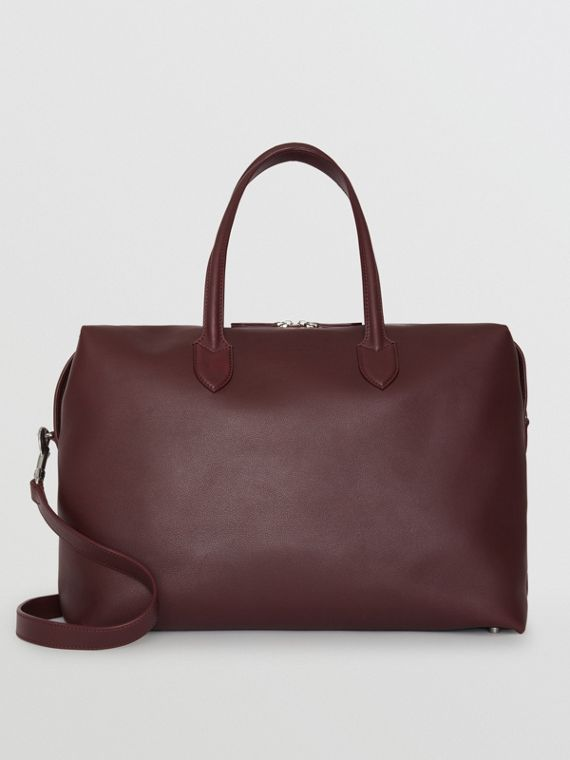 Soft Leather Holdall in Oxblood