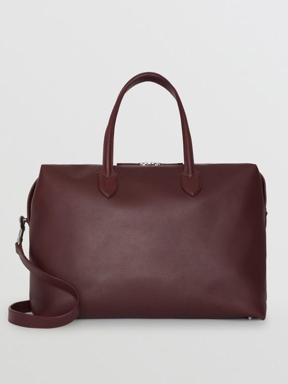 Reisetasche aus weichem Leder (Ochsenblutfarben)