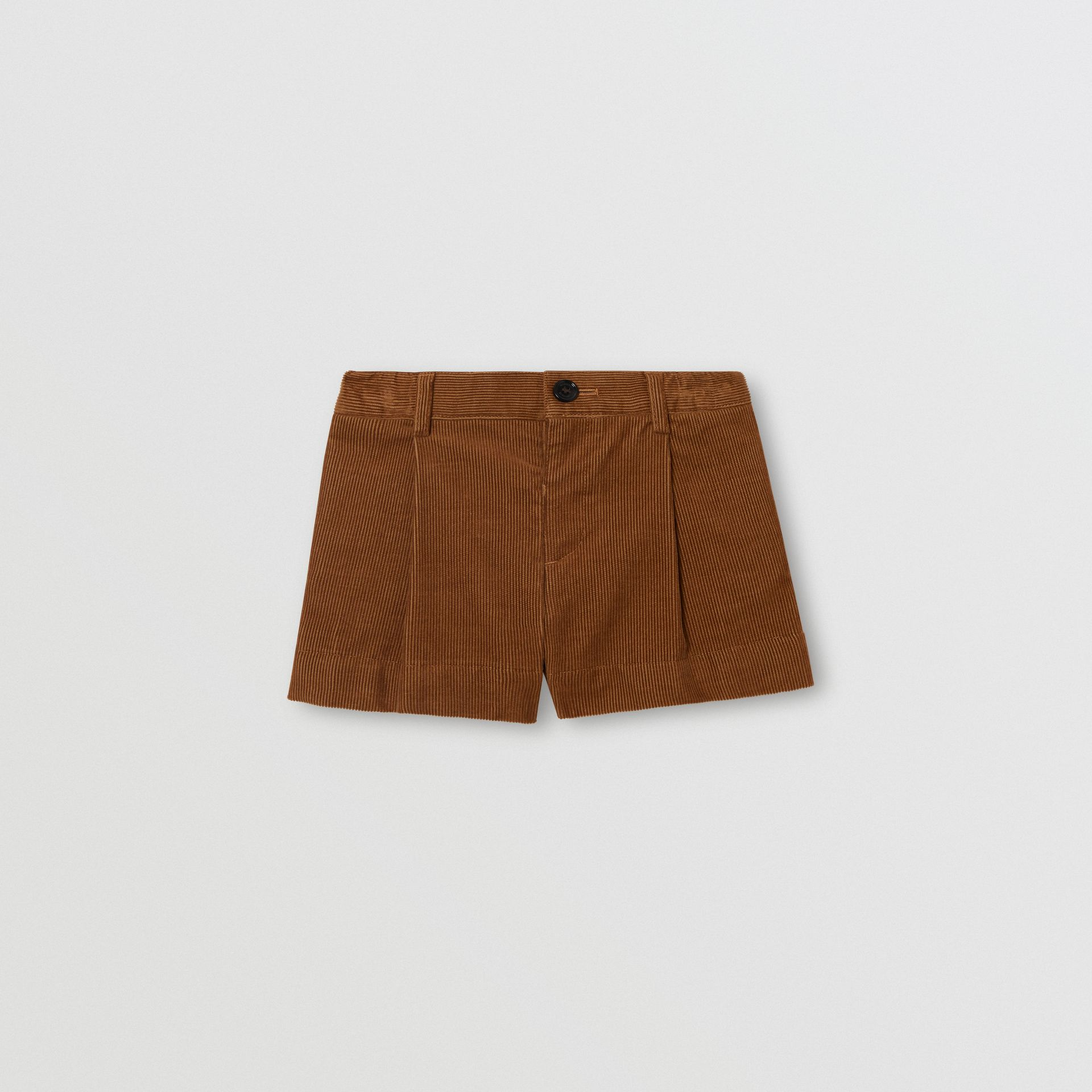 Corduroy Tailored Shorts in Camel | Burberry - gallery image 0