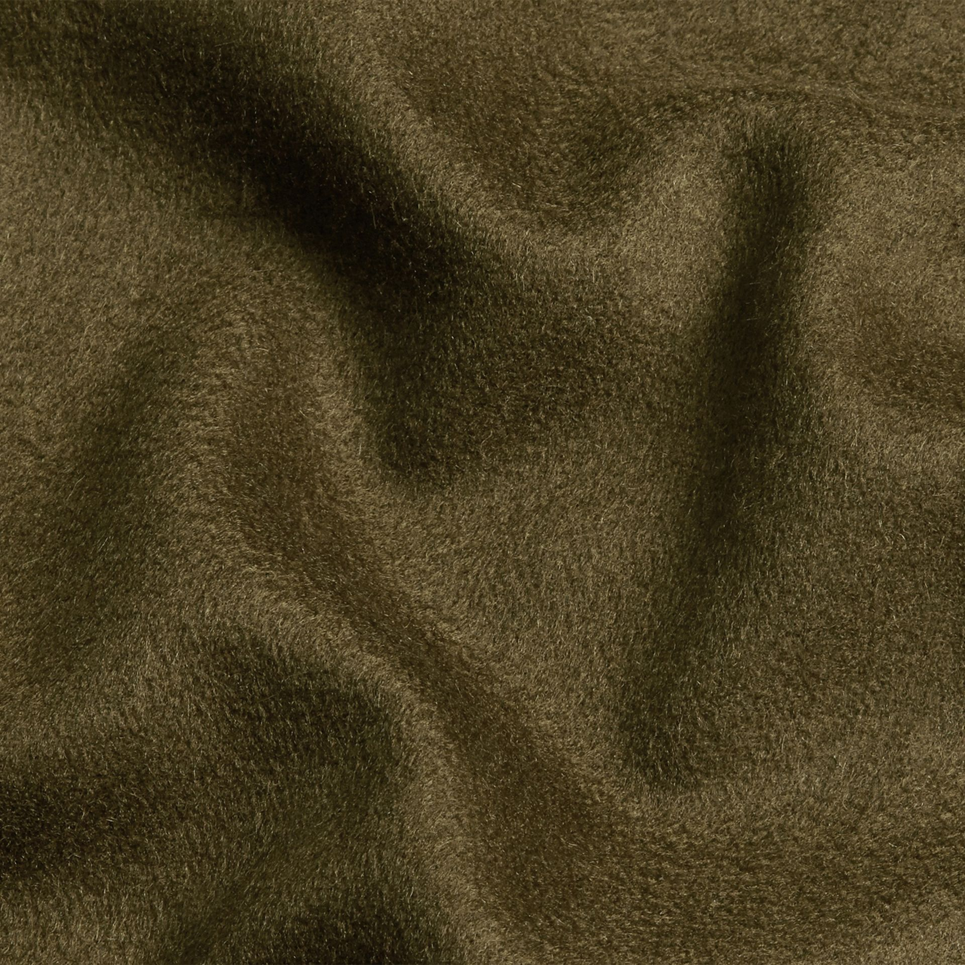 Olive green The Classic Cashmere Scarf Olive Green - gallery image 5