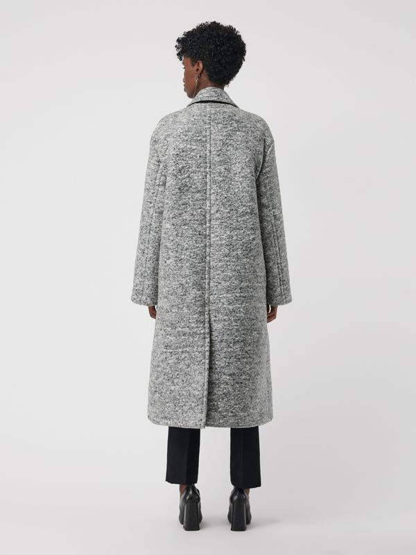 Laminated Cashmere Wool Blend Oversized Coat in Grey Melange - Women | Burberry - cell image 2