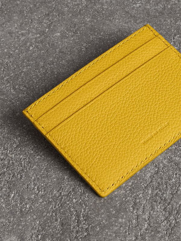Grainy Leather Card Case in Bright Ochre Yellow | Burberry United Kingdom - cell image 2