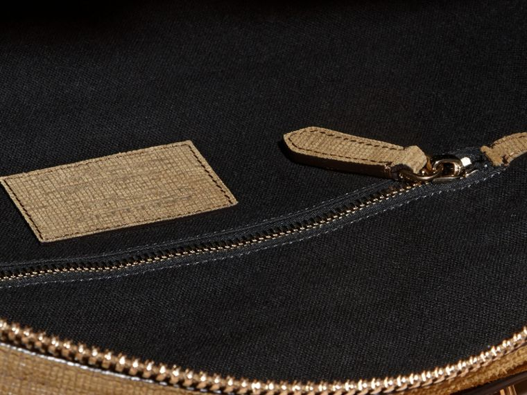 Textured Suede and House Check Detail Holdall - cell image 4