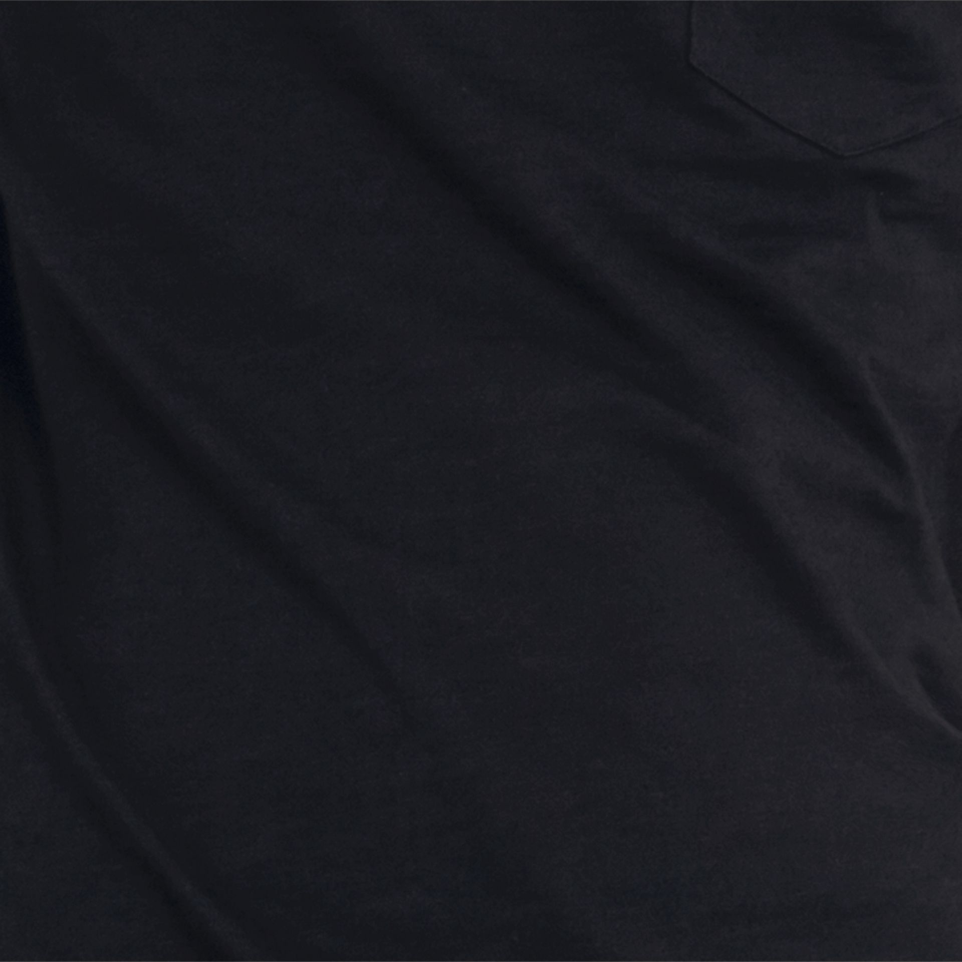 Black Slub Jersey Double Dyed T-Shirt Black - gallery image 2