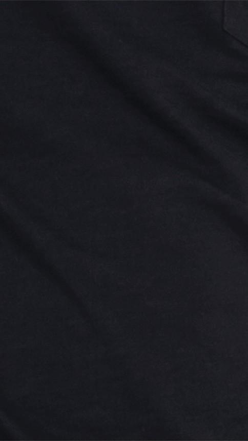 Black Slub Jersey Double Dyed T-Shirt Black - Image 2