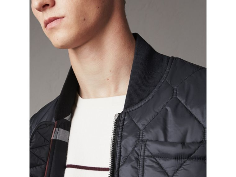 Diamond Quilted Gilet in Navy - Men | Burberry - cell image 1