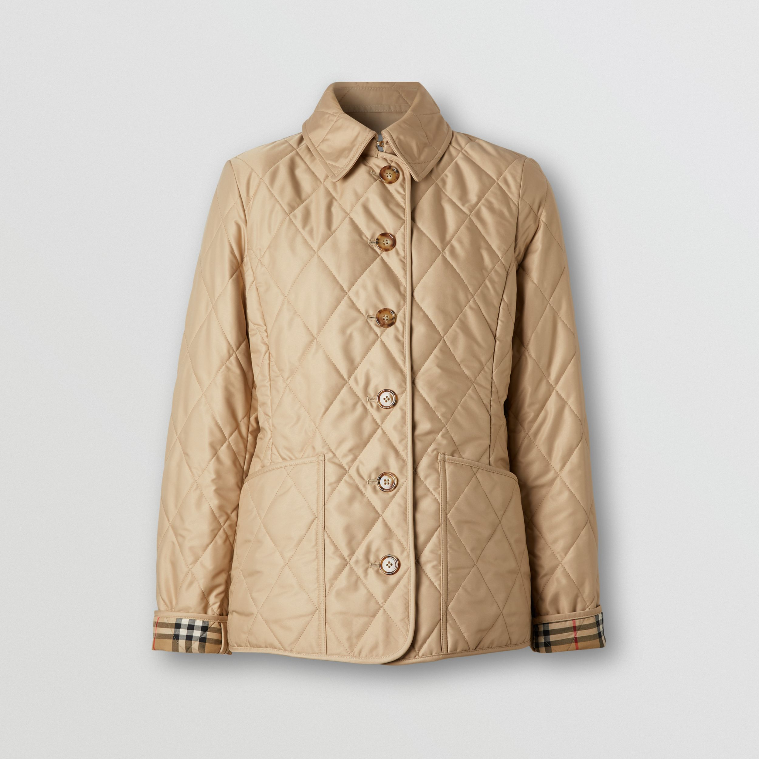 Diamond Quilted Thermoregulated Jacket in New Chino - Women | Burberry - 4