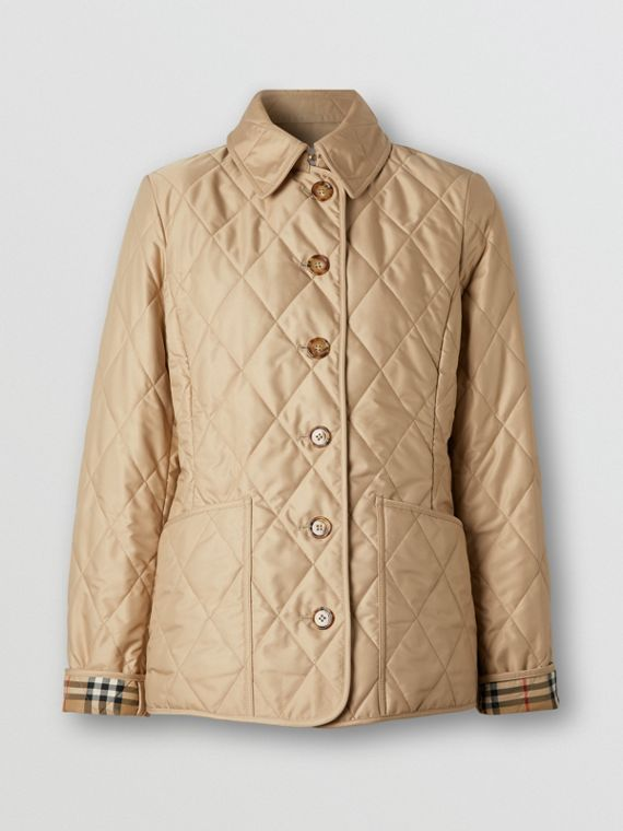 Diamond Quilted Thermoregulated Jacket in New Chino