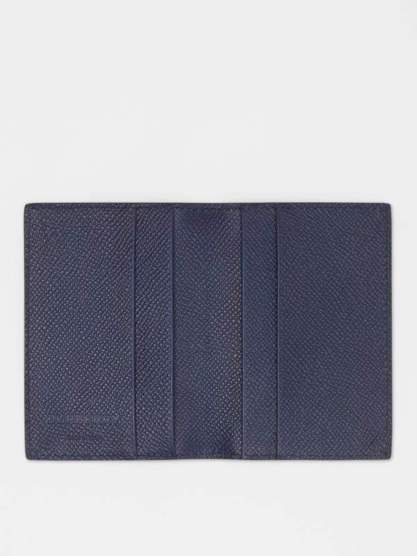 Grainy Leather Bifold Card Case in Regency Blue - Men | Burberry - cell image 2