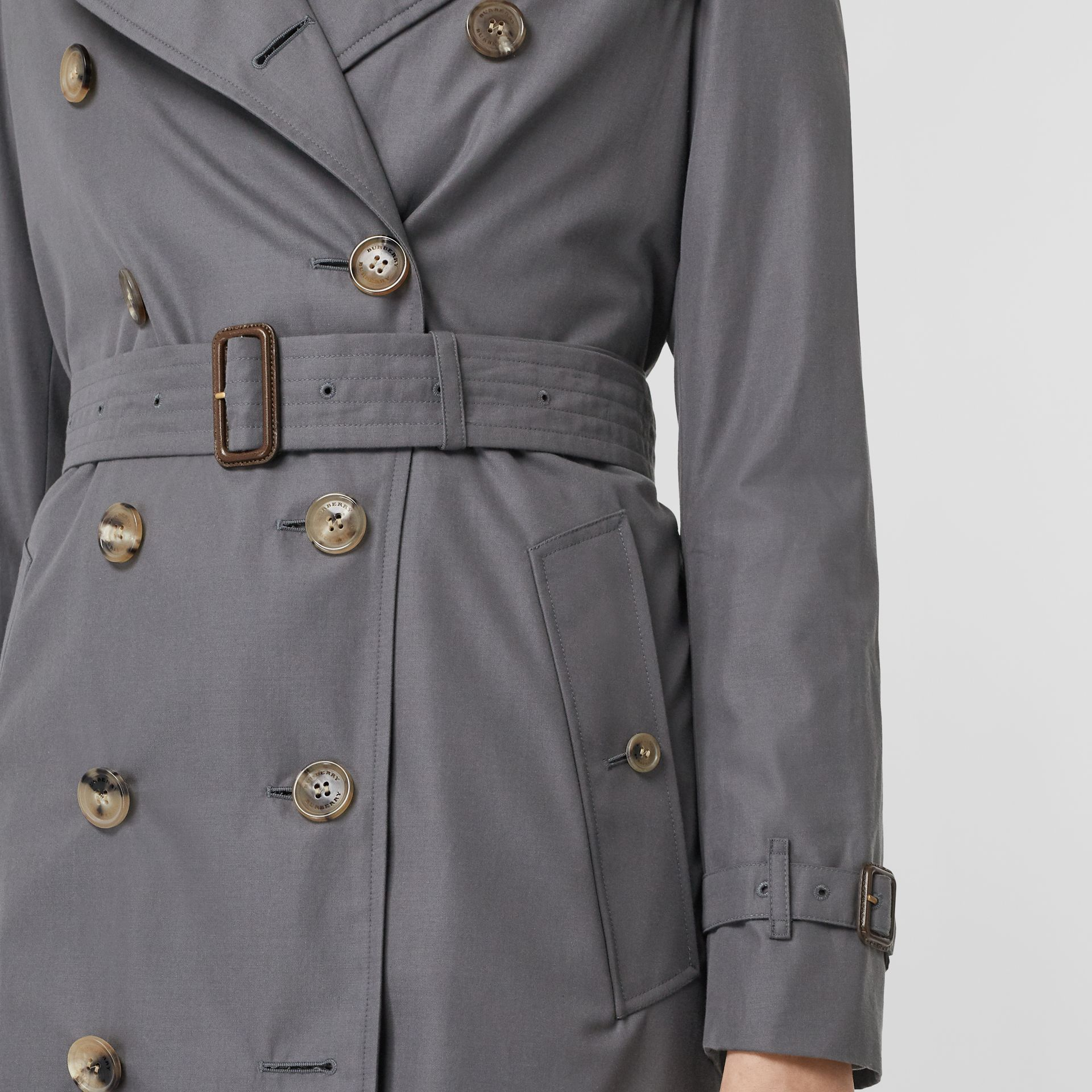 The Kensington Heritage Trench Coat in Mid Grey - Women | Burberry Singapore - gallery image 7