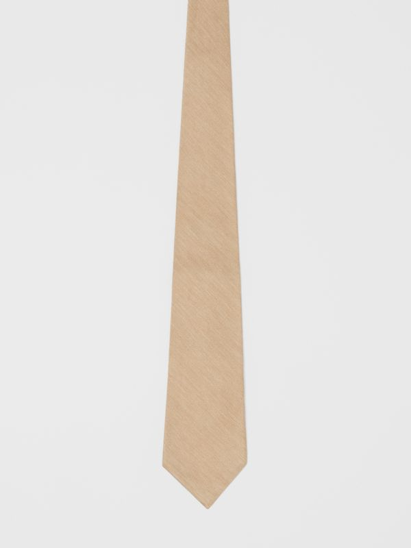 Classic Cut Silk Tie in Soft Fawn | Burberry - cell image 3