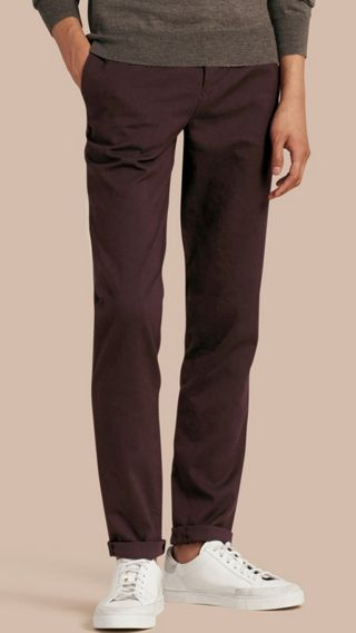 Tailored Cotton Wool Blend Trousers