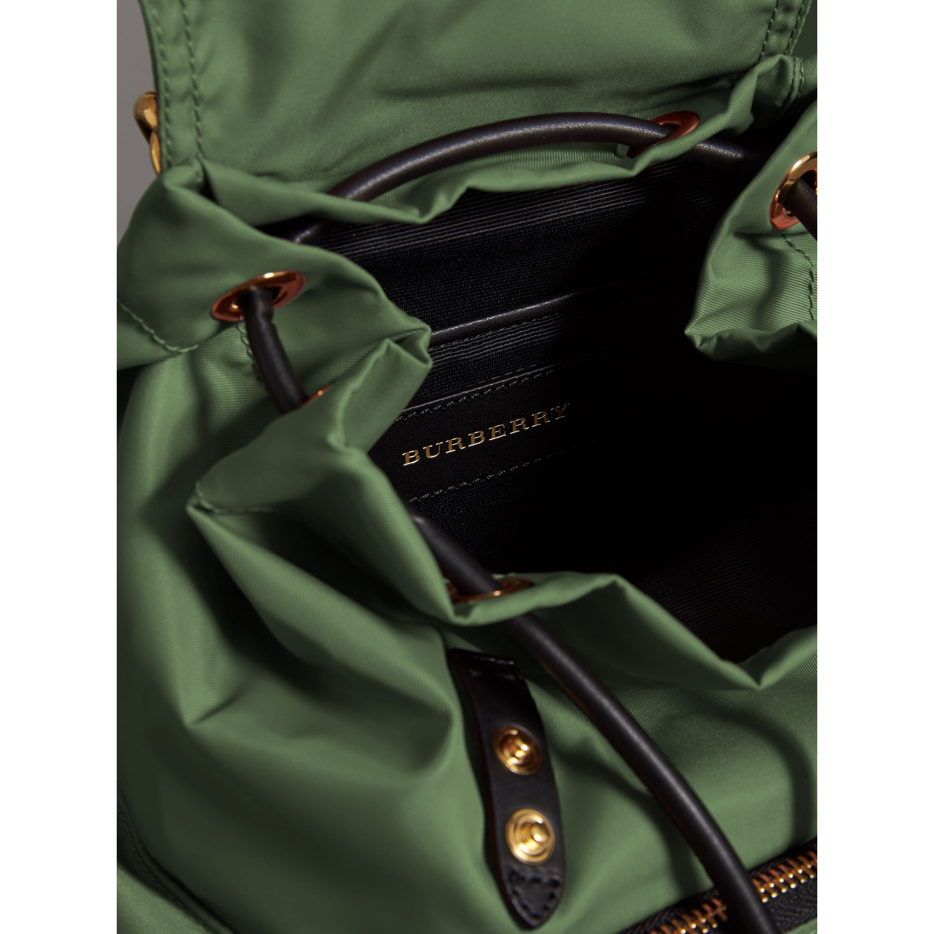 The Small Crossbody Rucksack in Nylon in Racing Green - Women | Burberry - gallery image 5