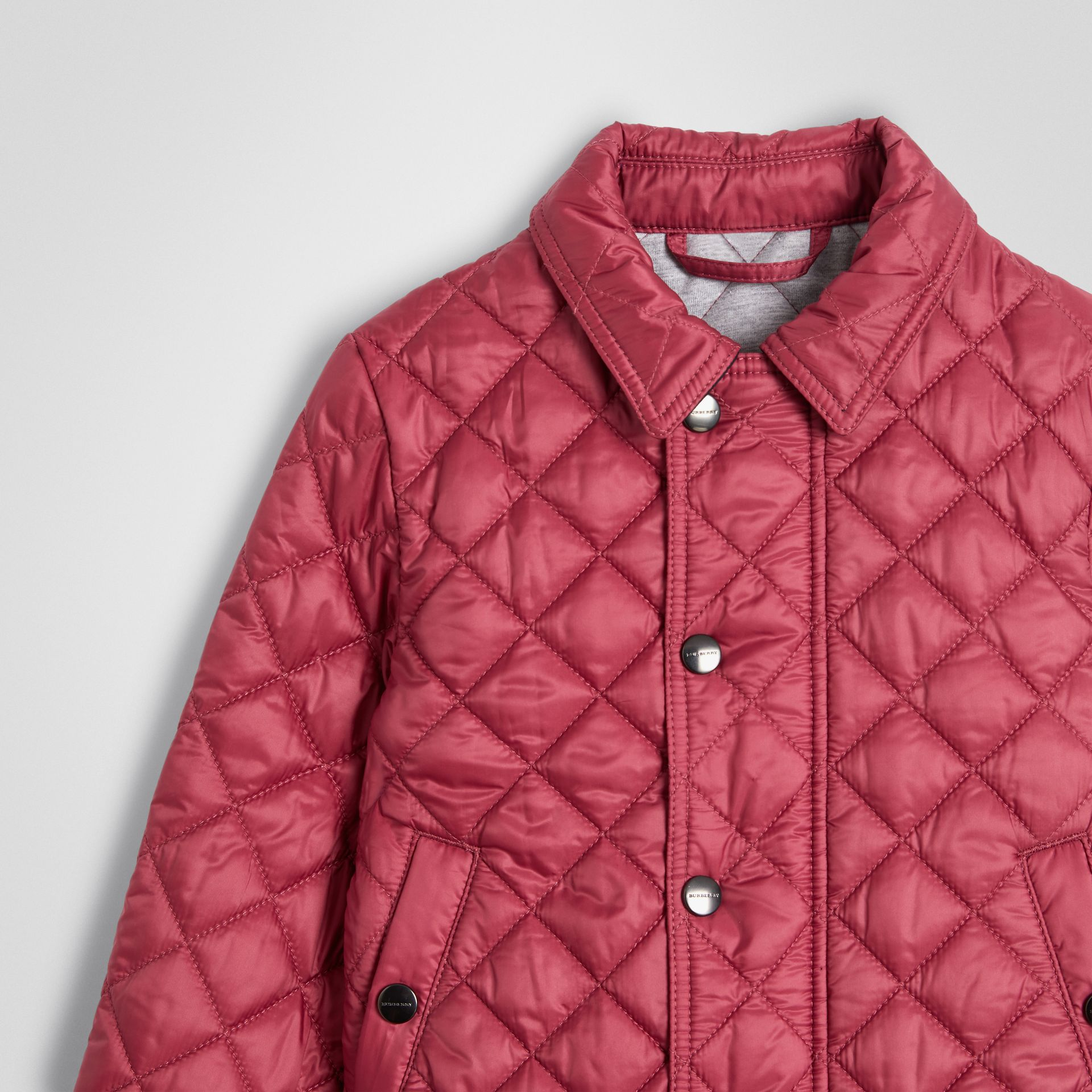 Lightweight Diamond Quilted Jacket in Peony Rose | Burberry United Kingdom - gallery image 4