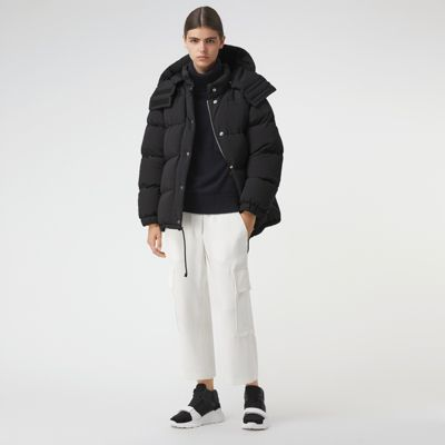 Detachable Hood And Sleeve Down Filled Puffer Jacket by Burberry